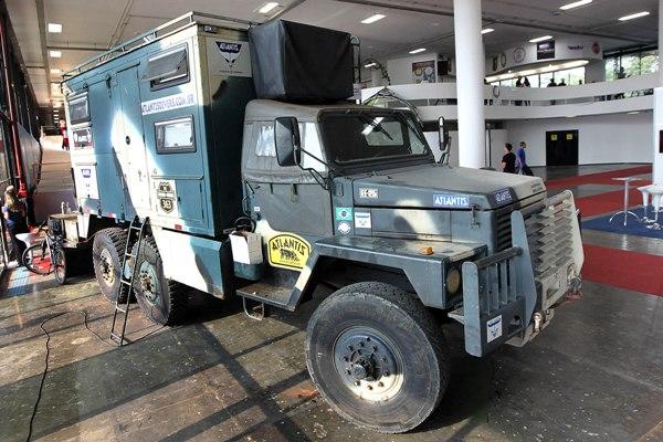 A feira contou com exposições de veículos off-road. (Foto: Márcio Fernandes/Estadão)