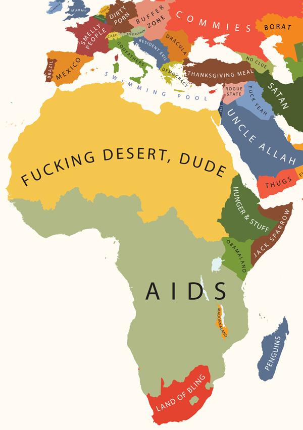 A África segundo os Estados Unidos.