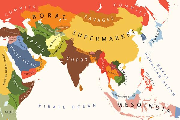 A Ásia segundo os Estados Unidos.