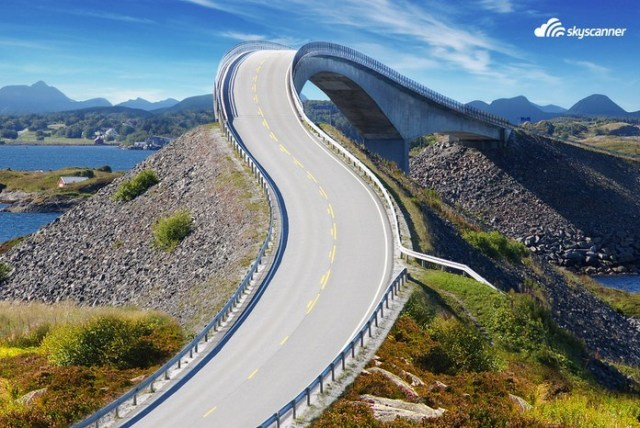 10 - Dirigir na estrada do Atlântico na Noruega.