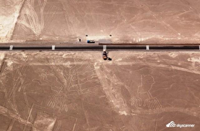 5 - Sobrevoar as linhas de Nazca no Peru.