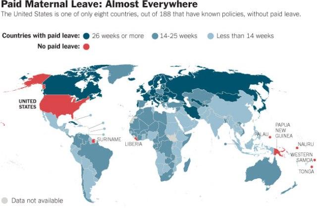A Licença Maternidade ao redor do mundo