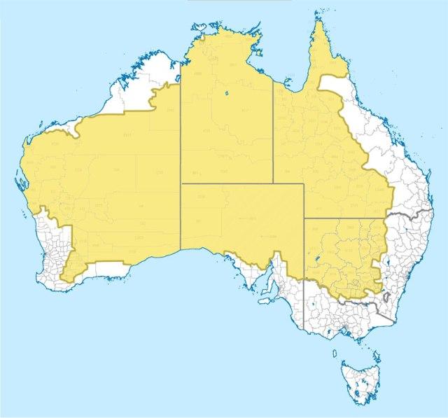 Área onde apenas 2% da população da Austrália vive