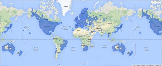 Onde o Google Street View está disponível