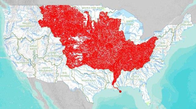 Os 7.000 rios que alimentam o rio Mississipi