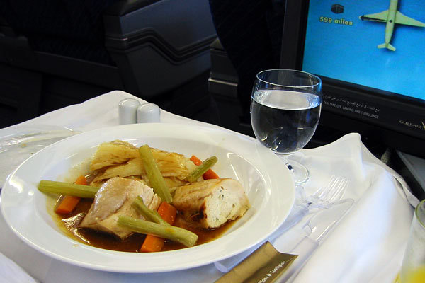 Bahrain Gulf Air, Classe executiva, Rota Bahrain - Frankfurt