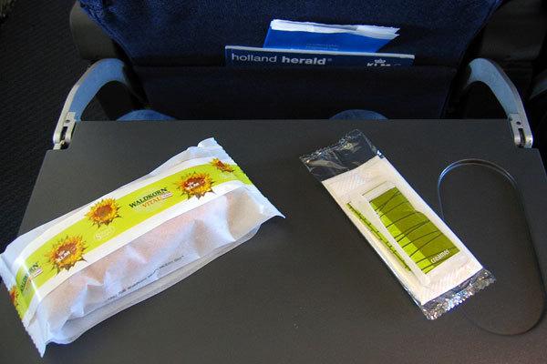 KLM Airlines, Classe econômica, Rota Hamburgo - Amsterdã