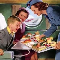 O luxo e o glamour de viajar de avião antigamente.